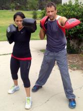 Boxing fitness training