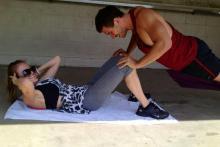 Couple's fitness training